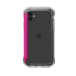 Element Case Rail Case for iPhone 11 and XR- Clear and Flamingo