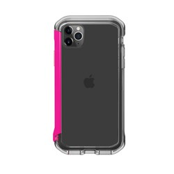 Element Case Rail Case for iPhone 11 Pro Max and XS Max - Clear and Flamingo