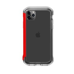 Element Case Rail Case for iPhone 11 Pro Max and XS Max - Clear and Solid Red