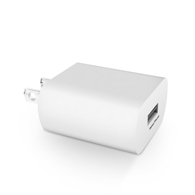 HyperGear 2.4A Single USB Wall Charger Bulk - White