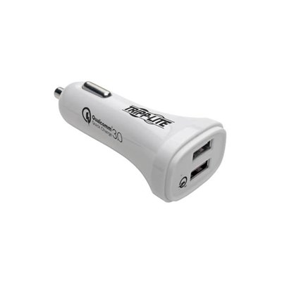Dual-Port USB Car Charger with Qualcomm Quick Charge 3.0 Technology