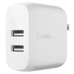 Belkin - Dual Port Usb A 24w Wall Charger - White