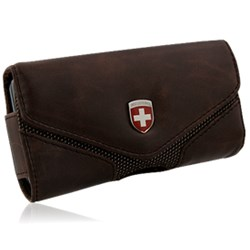 Swiss Leatherware Lugano Case - Brown  10159nz