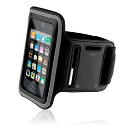 Apple Compatible Naztech Sport Armband - Black and Silver 10381NZ