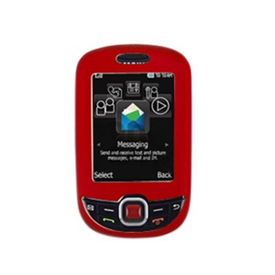 Samsung Compatible Premium Rubberized SnapOn Cover - Red  10968NZ