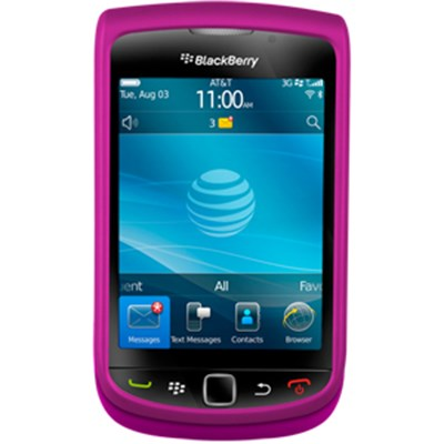 Blackberry Compatible Premium Rubberized SnapOn Cover - Pink  11016NZ