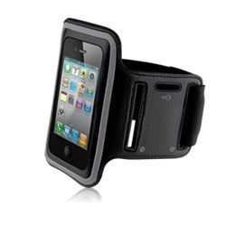 Naztech Sports Armband - Black and Silver  11177NZ