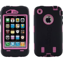 Apple Compatible Otterbox Defender Interactive Case and Holster - Black and Pink 77-18506