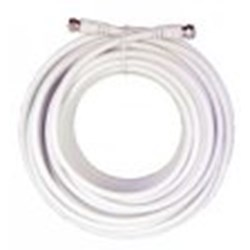 30 Feet  White RG6 Low Loss Coax Cable