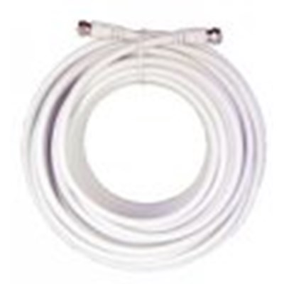 20 Feet  White RG6 Low Loss Coax Cable  950620