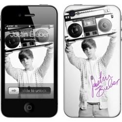 Apple Compatible MusicSkins Justin Bieber - Boombox  MS-JB70133