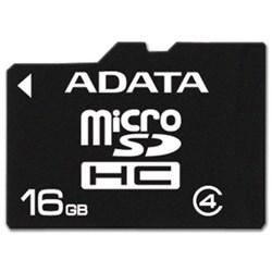 ADATA 16GB microSDHC Class 4 Memory Card