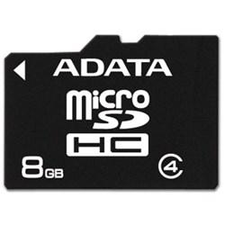 ADATA 8GB microSDHC Class 4 Memory Card  AUSDH8GCL4-RA1