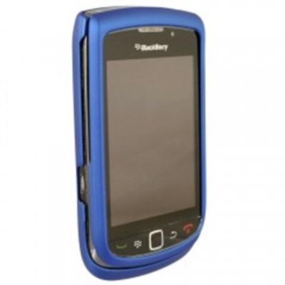 Blackberry Compatible Rubberized Protective Cover - Dark Blue   BB9800RUBDKBL