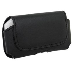 Universal Horizontal Leather Pouch- Black  K-24101