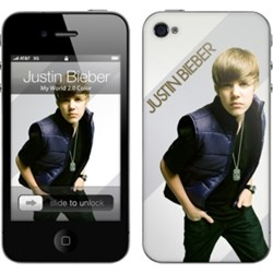 Apple Compatible MusicSkins Justin Bieber - My World  MS-JB10133