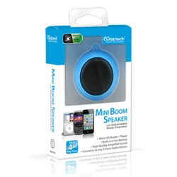 Naztech N15 3.5mm Mini Boom Speaker with SD Card Slot - Blue 11560NZ