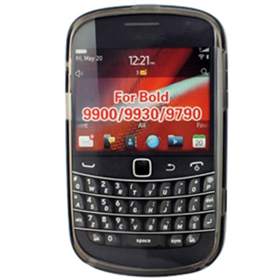 Blackberry Compatible Crystal Skin TPU Cover - Transparent Smoke  TPU-BB9900-TSM