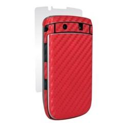 Blackberry Compatible BodyGuardz Armor Carbon Fiber - Red BZ-ACRT2-0811