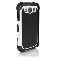 Samsung Compatible Ballistic SG (Shell Gel) MAXX Case and Holster - Black and White  SX0932-M385