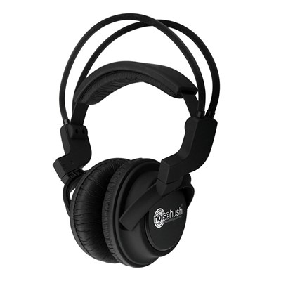 Noisehush 3.5mm Stereo Headphones with In-Line Mic - Black  NX22R-11949