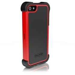 Apple Compatible Ballistic SG MAXX Rugged Case and Holster - Black and Red  SX0945-M355