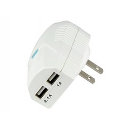 Scosche 3.1 Amp Dual USB Home Charger - White  USBH3W