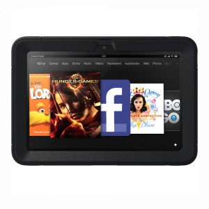 with built-in screen protection Black OtterBox Defender Series Protective Case for Kindle Fire HD 8.9