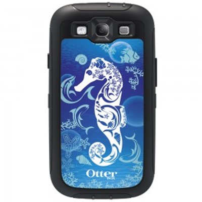 Samsung Compatible Otterbox Defender Rugged Interactive Case and Holster - Friends Collection Waves and Seahorse  77-26177