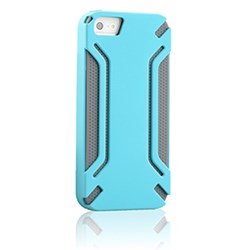 Apple Compatible HyperGear Virgo Dual-Layered Protective Cover - Blue and Grey 12310-HG