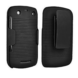 Blackberry Compatible Puregear Holster Combo Rubberized Shell And Holster - Black Ribbed Texture 88639VRP