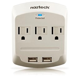 Naztech Power Center with Surge Protector - White NP160-12153