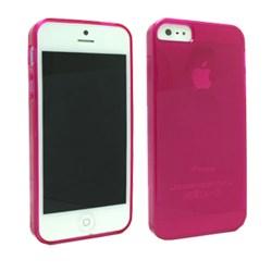Apple Compatible MultiPro Transparent Hard Gel - Pink TPU-IPHONE5-TPI