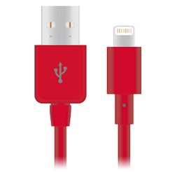Naztech Apple Certified Lightning 8-Pin Charge and Sync Cable - Red 12422-NZ
